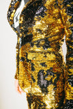 Any Old Iron Gold/Black Sequin Suit Jacket , Womans Jackets - ANY OLD IRON,  - 4