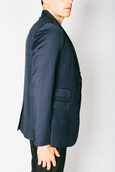 Any Old Iron Classic Cashmere Blend Blazer - Navy , Mens Jacket - ANY OLD IRON,  - 3