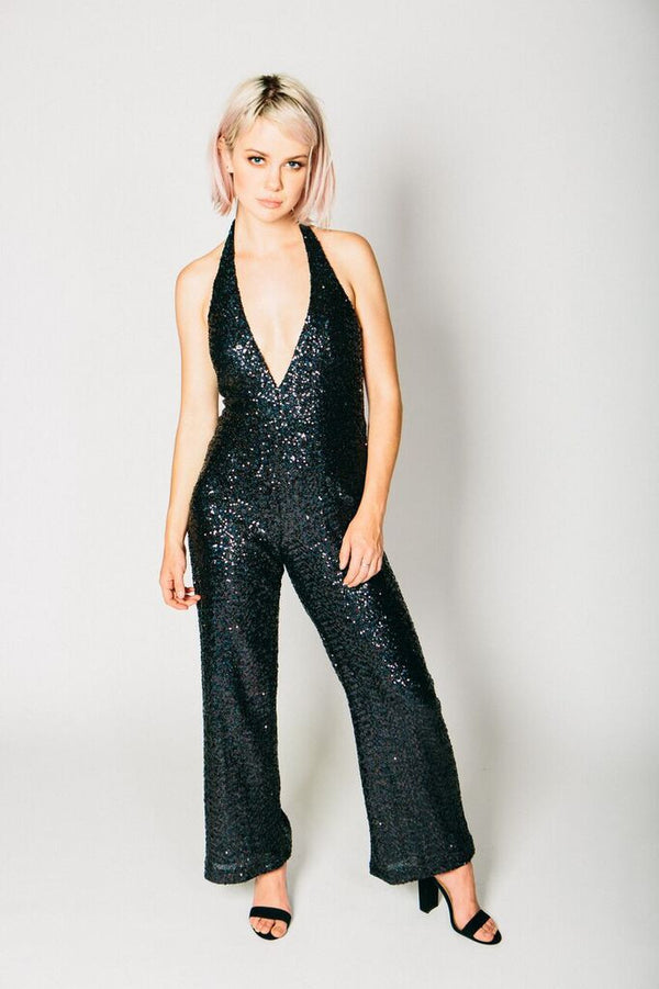 Any Old Iron Black Sequin 54 Jumpsuit , Dresses - ANY OLD IRON,  - 1