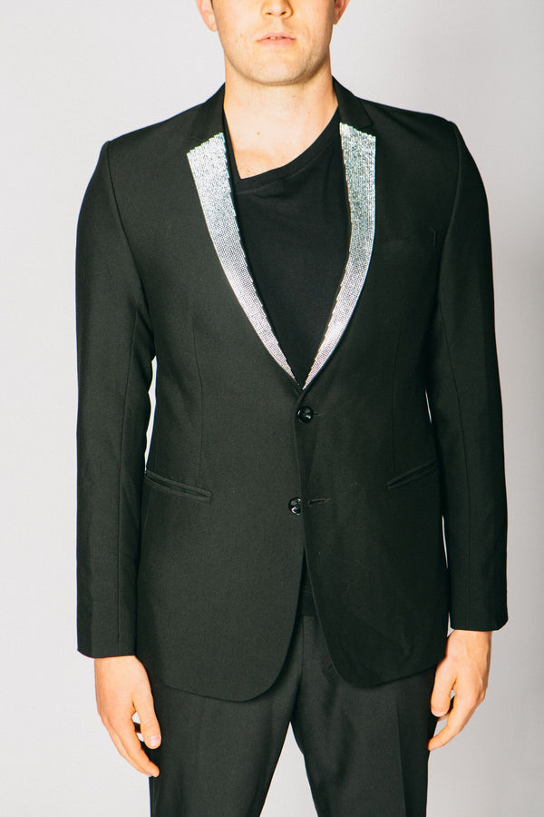 Any Old Iron Diamanté Lapel Blazer , Mens Jackets - ANY OLD IRON,  - 1