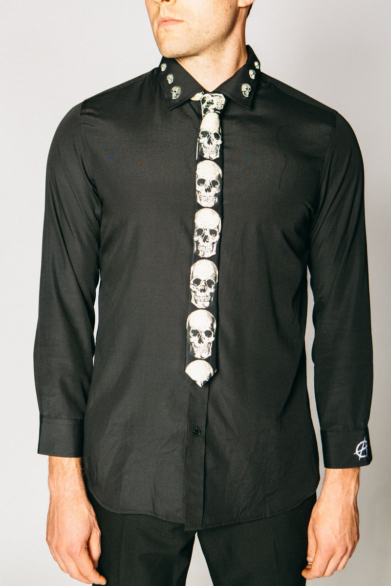 Any Old Iron Skull Tie , Mens Accessories - ANY OLD IRON,