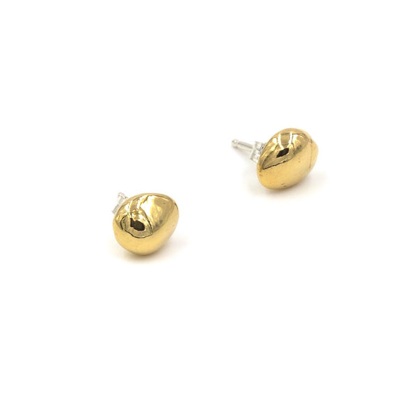 cast pebble stud earrings