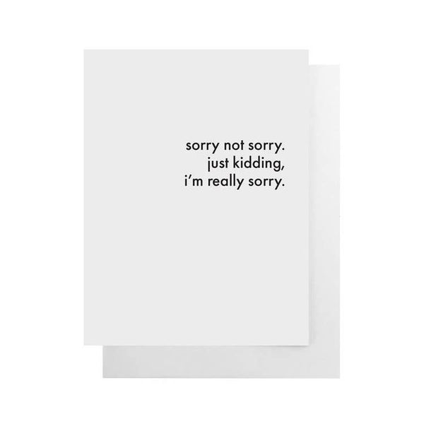 Cult Paper - Sorry Not Sorry Card