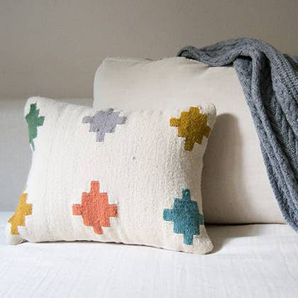 Kiliim - Pastel Tiles throw pillow cover