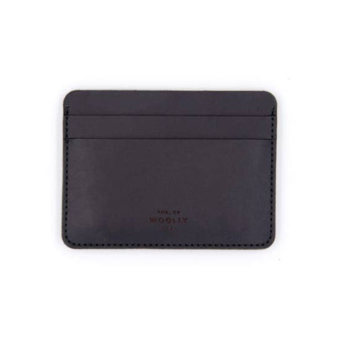 Leather Half Wallet - Black