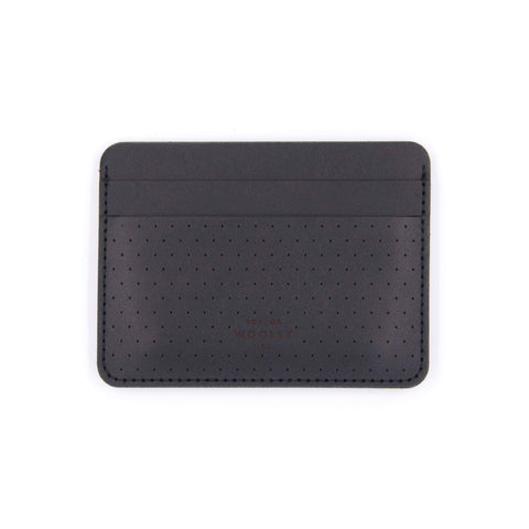 Leather Half Wallet - Perf'd Black