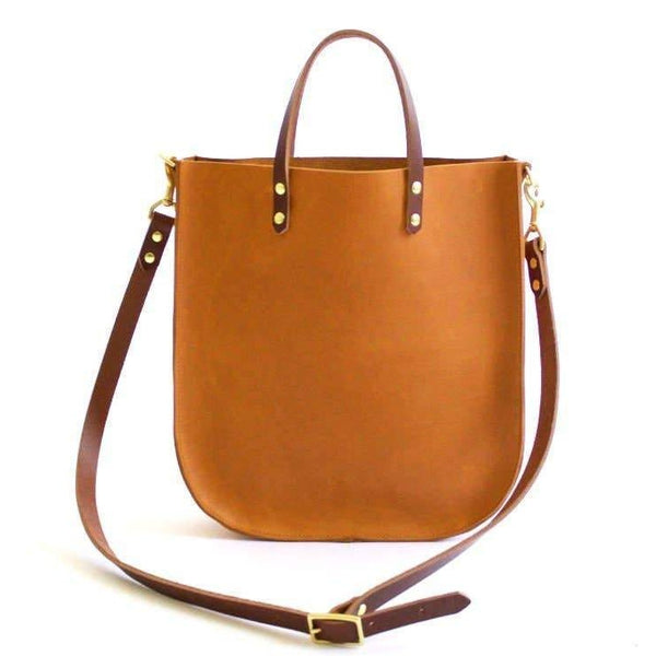 The Bridget Leather Tote - Sienna with Cognac Strap