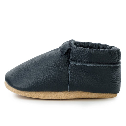 BirdRock Baby - Black and Tan Moccasins