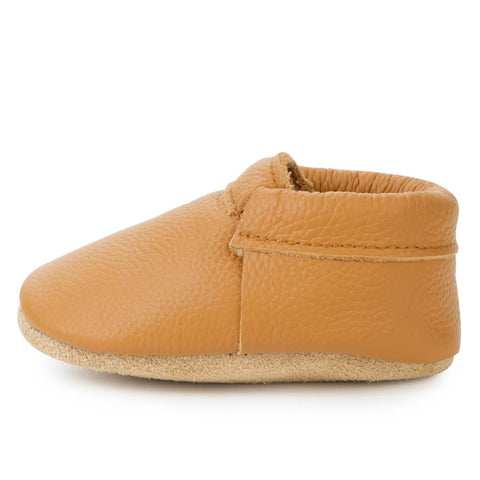 Leather Gingersnap Moccasins