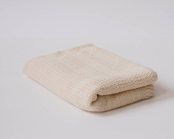 Echoview Fiber Mill - Organic Cotton Checkered Rose Baby Blanket