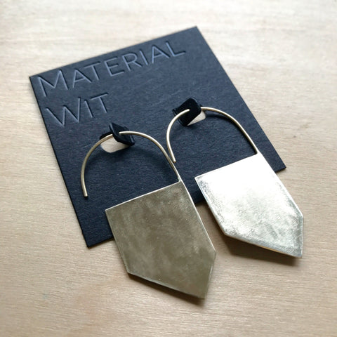 GEOMETRIC SOLID BRASS Earrings