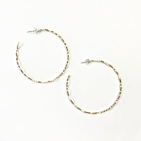 Crimp Hoop Earrings