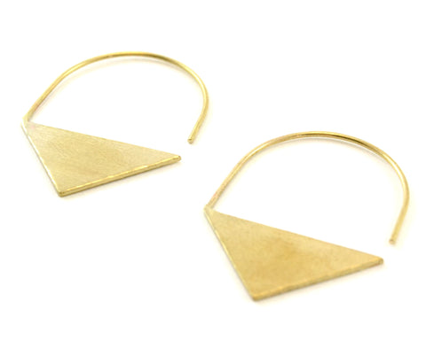 GEOMETRIC SOLID BRASS TRIANGLE Earrings