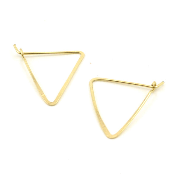 TRIANGLE HOOPS // Geometric Earrings
