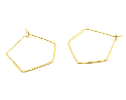 PENTAGON HOOP // Geometric Earrings
