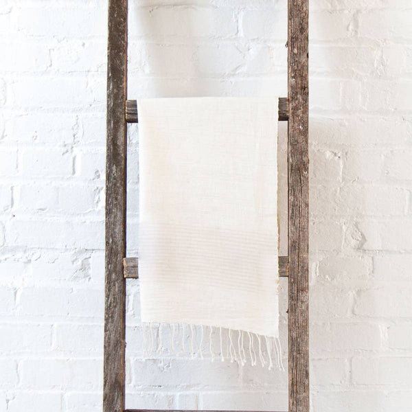 Handwoven cotton hand towel in - Natural