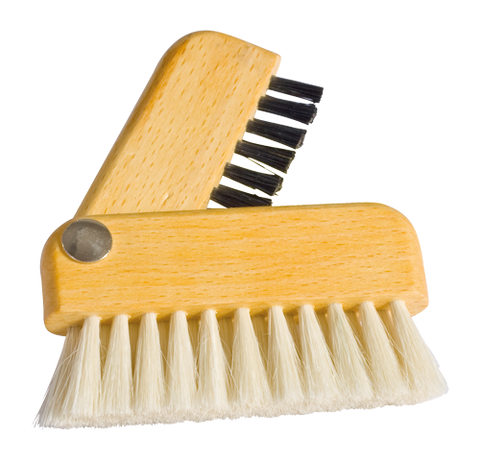 Wood and Natural Bristle Laptop Brush