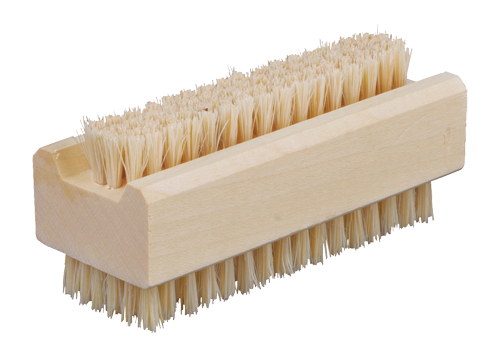 Wood and Natural Bristle Nail Brush