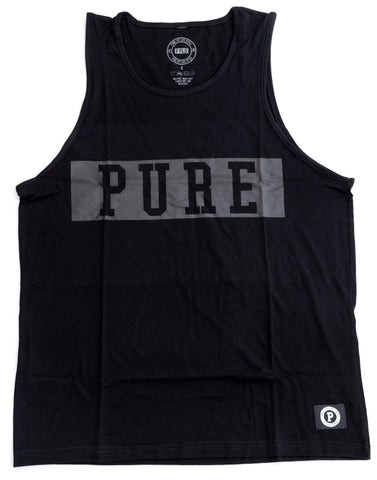 PURE BLOCK TANK TOP-BLACK