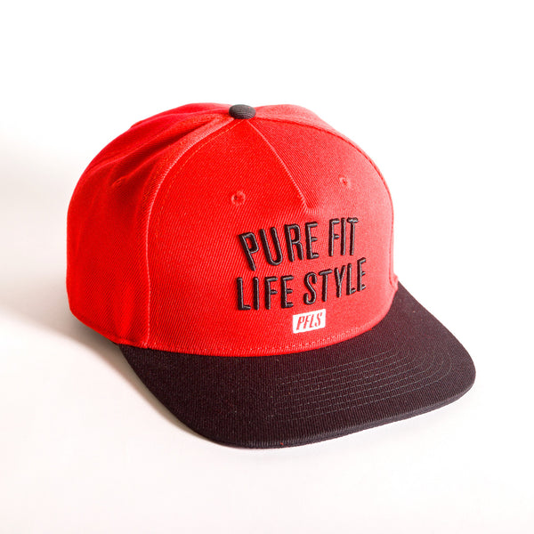 PFLS LIFESTYLE SNAPBACK - BLACK / RED