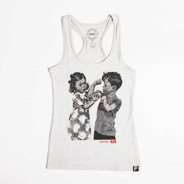 WOMEN'S SWOLEMATE TANK - HEATHER GREY