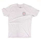 PFLS CREST LOGO TEE - HEATHER GREY