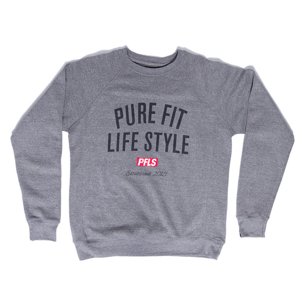 CREST FLEECE CREW NECK - GREY
