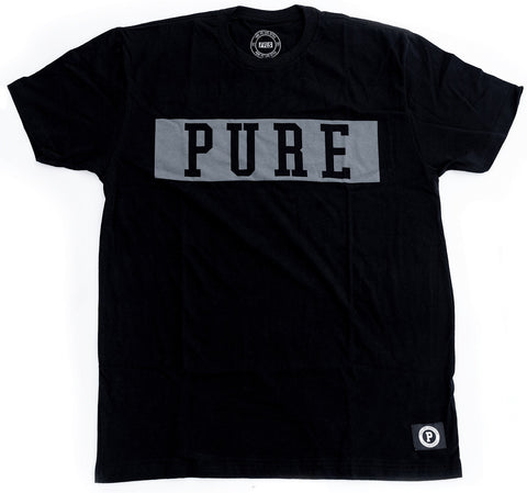 PURE BLOCK TEE-BLACK