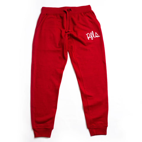 SCRIPT JOGGERS-FIRE RED
