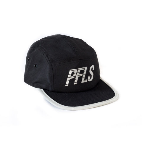 QUICKSTER 5 PANEL STRAP BACK-BLACK/GREY