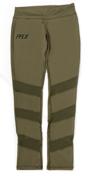 "PFLS Women's ""Span Dexter"" Leggings- OLIVE GREEN"