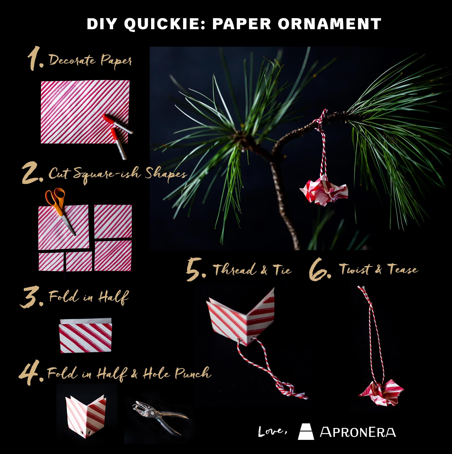 How to Make Quick Paper Ornaments-Holiday DIY