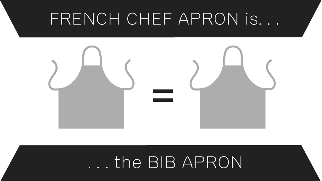 The French Chef Apron is the Bib Apron