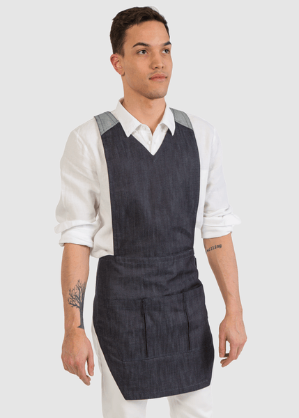 Mens Raw Japanese Denim ApronEra Apron-Front View
