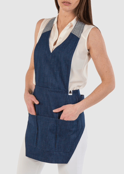 Womens Modern Denim ApronEra Apron-Front View