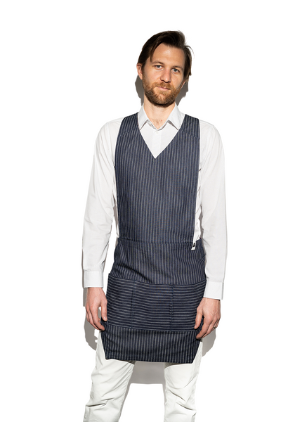 Men's Pinstripe Denim Apron