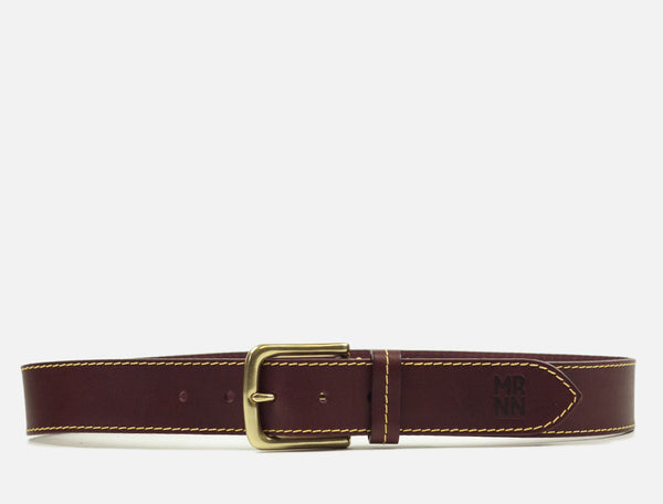 The Original Leather Belt - Maroon