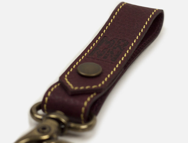 The Key Loop - Maroon Leather