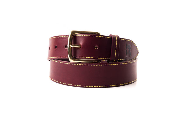 The Original Belt - Maroon Leather