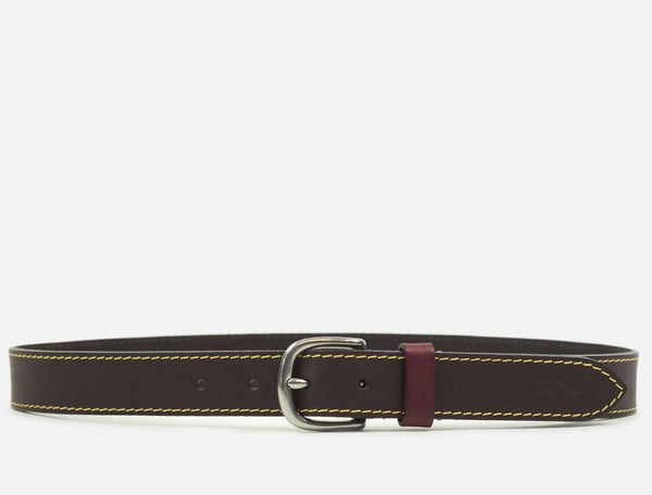 The Tailored Leather Belt - Dark Brown