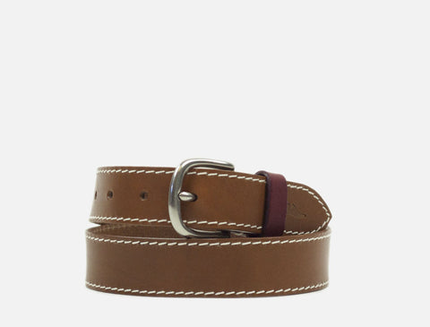 The Tailored Leather Belt - Tan