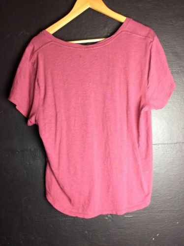 Abercrombie & Fitch Womens Garment Dyed V Neck Tee Red - Six 3 Shop