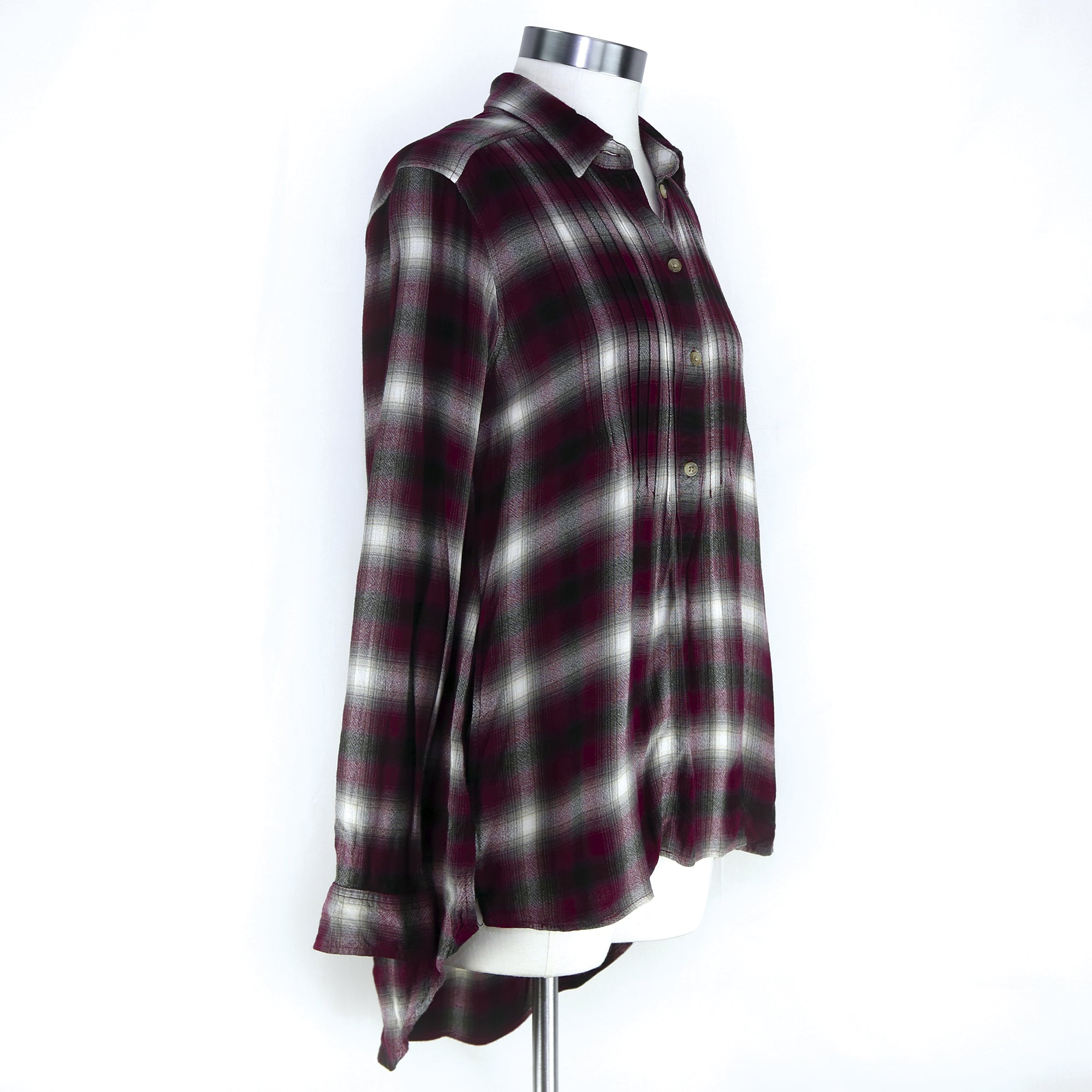 American Eagle Women's Maroon Flannel Size XS - Six 3 Shop