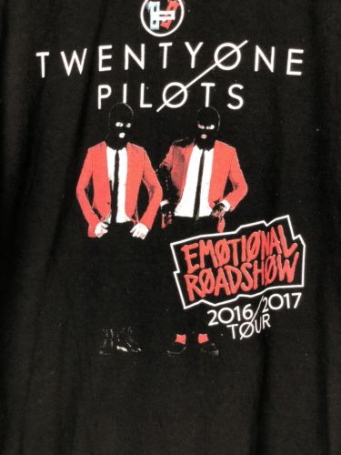 21 Pilots Emotional Roadshow 2016 Tour Mens Large Black Shirt