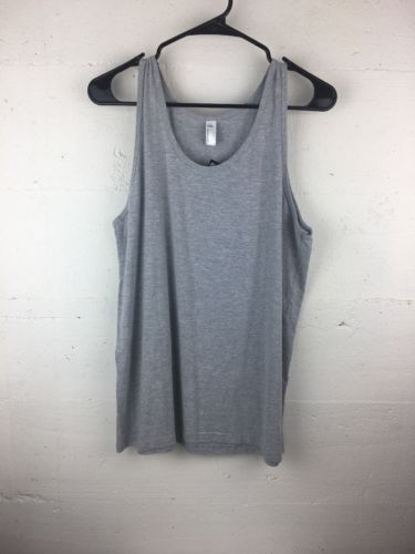 American Apparel Tr408 Heather Grey Tank Top Large