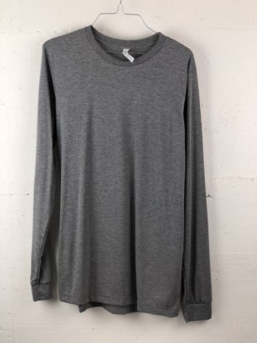 Bella Canvas Unisex Medium Long Sleeve Grey T Shirt