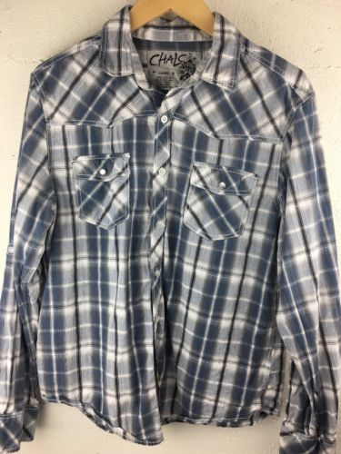 Chalc Men's Large Western Button Up