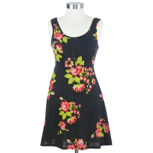 Xhillaration XS Black Floral Dress