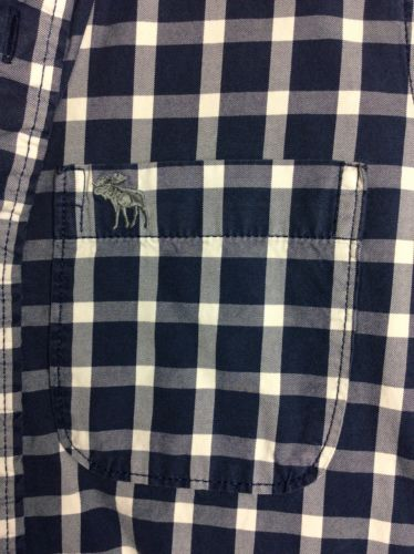 Abercrombie & Fitch Button Front Shirt Blue Small