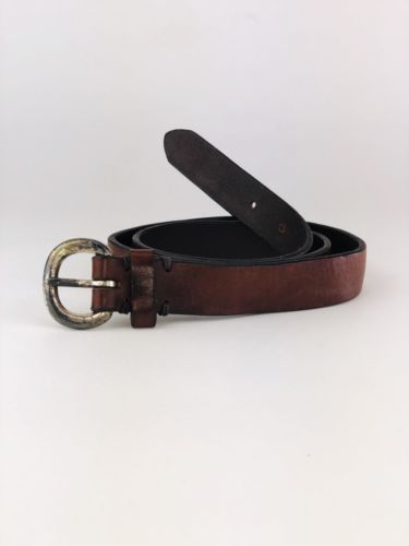 Women's Size 32 Gap Skinny Brown Leather Belt